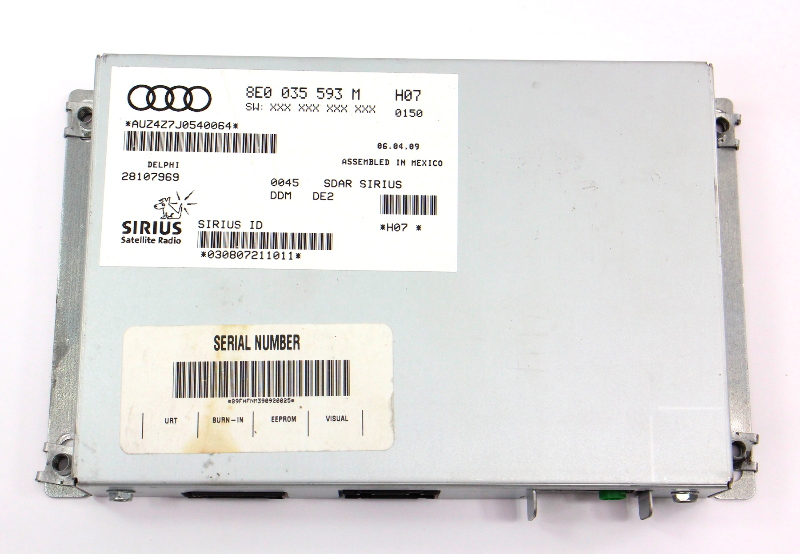 Sirius XM Radio Tuner Module VW Rabbit MK5 Passat Audi A3 A4 A6 - 8E0 035 593 M