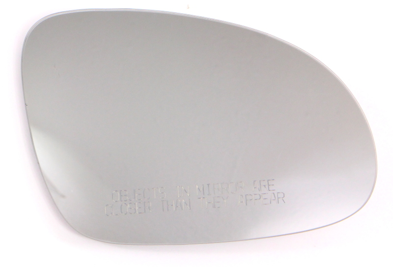 RH Exterior Side View Mirror Glass 05-10 VW Jetta MK5 Heated - Genuine