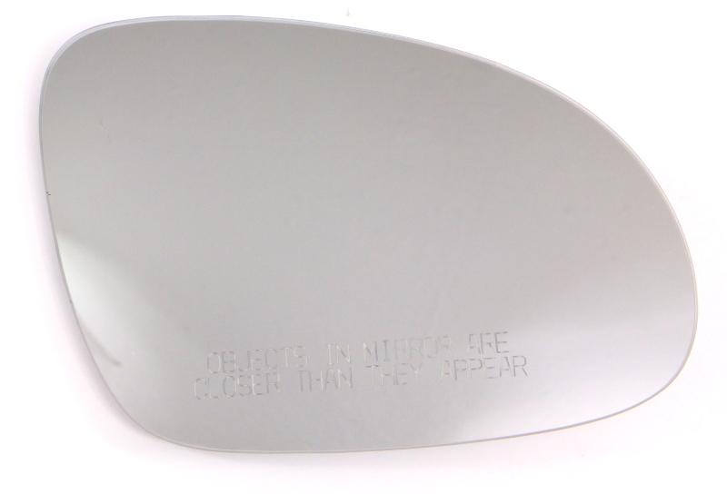 RH Exterior Side View Mirror Glass 05-10 VW Jetta MK5 Heated - Genuine