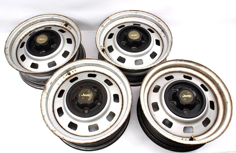 "15"" x 6"" Steel Wheel Rim Set 5x4.5"" Jeep Wrangler Cherokee Wagoneer Comanche"