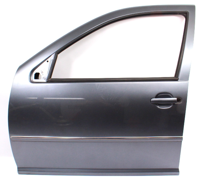 LH Front Driver Door Shell 99-05 VW Jetta Golf MK4 LD7X Platinum Grey - Genuine