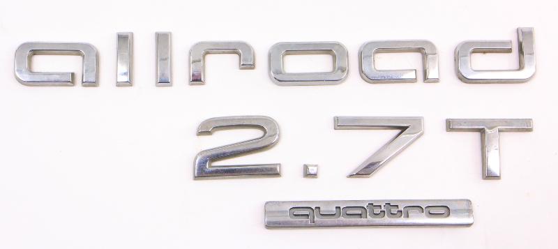 Hatch Trunk Lid Emblems 01 05 Audi Allroad 2 7t Chrome