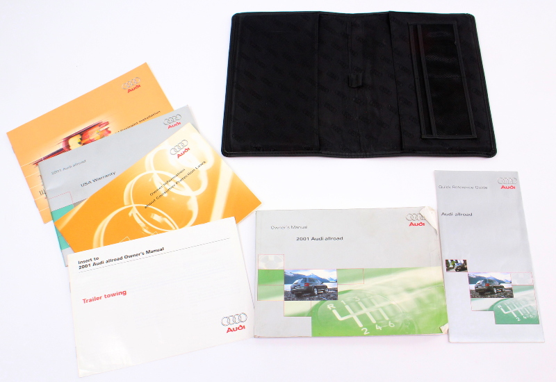 2001 Audi Allroad Owners Manual Book Information Info