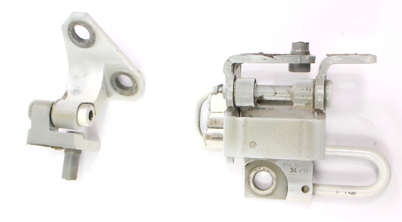 RH Front Door Hinge Set 05-10 VW Jetta Rabbit GTI MK5 LB9A White - 1K0 831 412 Q