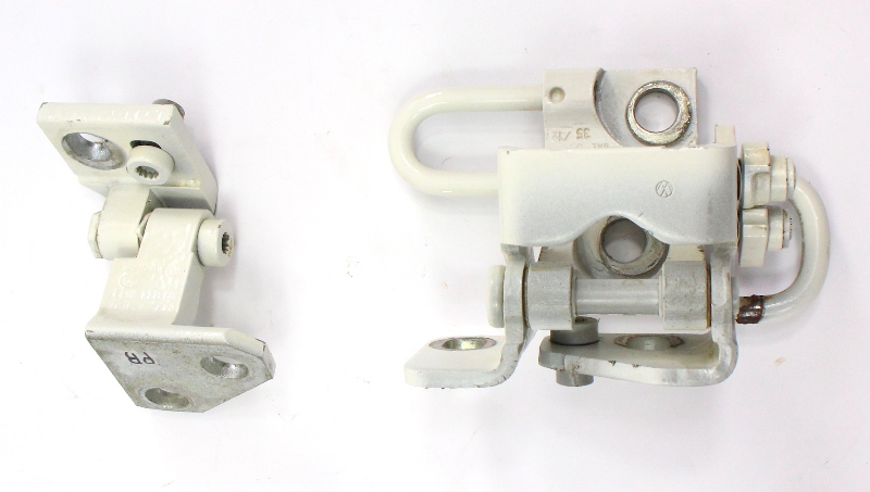 RH Rear Door Hinge Set 05-10 VW Jetta Rabbit GTI MK5 LB9A White - 1K4 833 412 Q