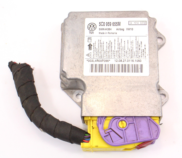 Airbag Control Module & Pigtail VW Jetta Sportwagen MK6 - 5C0 959 655 M