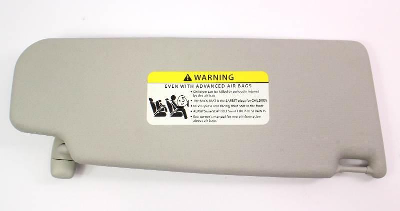 LH Sun Visor 11-18 VW Jetta S MK6 Sedan - Grey - Genuine