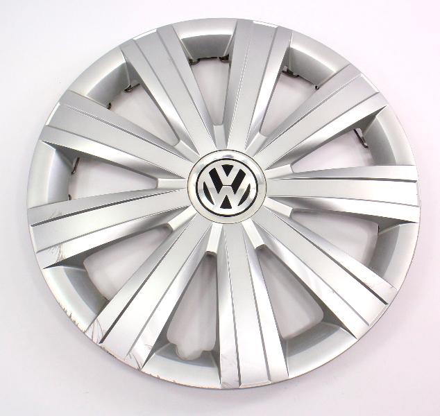 "Genuine Hubcap Hub Cap Wheel Cover 15"" 11-14 VW Jetta MK6 - 5C0 601 147"