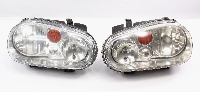 Genuine VW Headlight Head Light Lamp Set 99-05 VW Golf GTI MK4 Cabrio MK3.5
