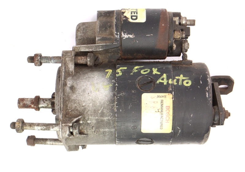 Starter Motor 74-84 VW Dasher Audi Fox 4000 - Genuine - 056 911 023 B