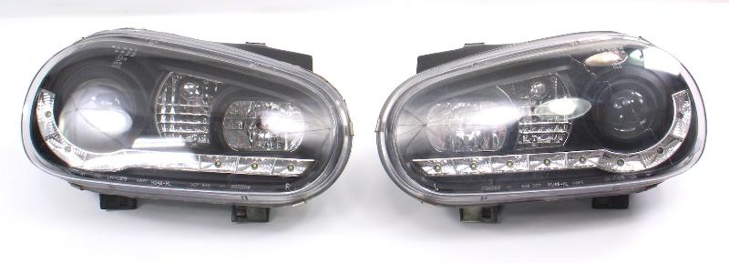 LED VW Headlight Head Light Lamp Set 99-05 VW Golf GTI MK4 Cabrio