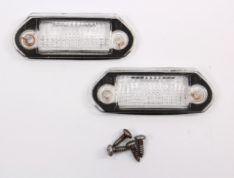 Rear License Plate Light Lens 93-99 VW Jetta MK3 ~ Bulb Covers ~ 1HM 943 119