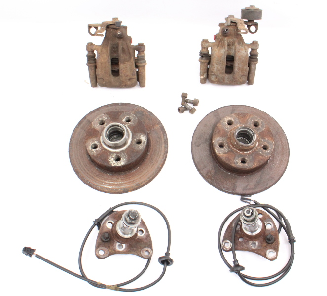 Rear Disc Brake Conversion Set 93-99 VW Jetta Golf GTI Cabrio MK3 ~ Genuine