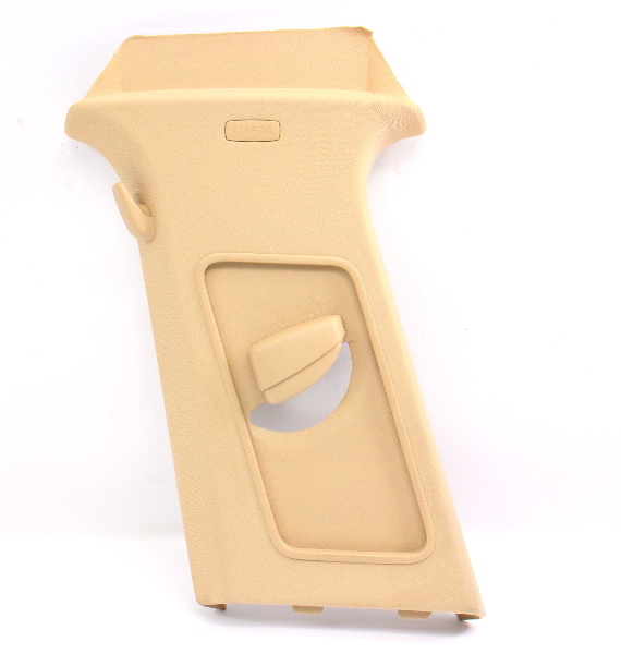 LH B Pillar Trim Cover Seat Belt Slider 05-10 VW Jetta MK5 Beige - 1K5 867 243 F