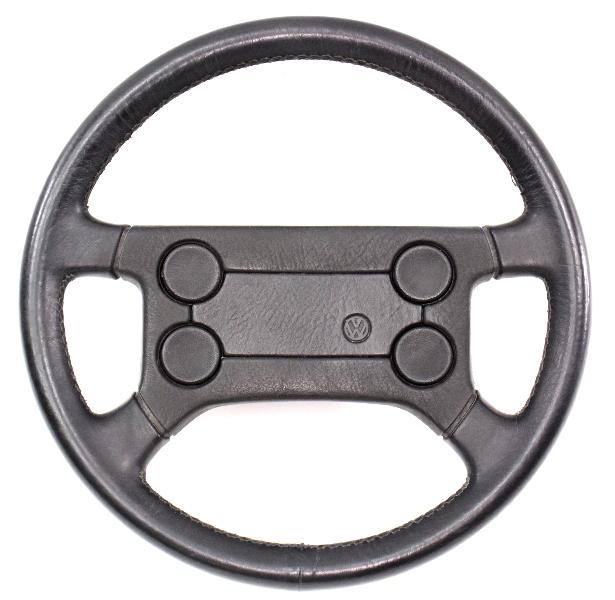 Leather 4 Spoke Sport Steering Wheel VW Rabbit GTI