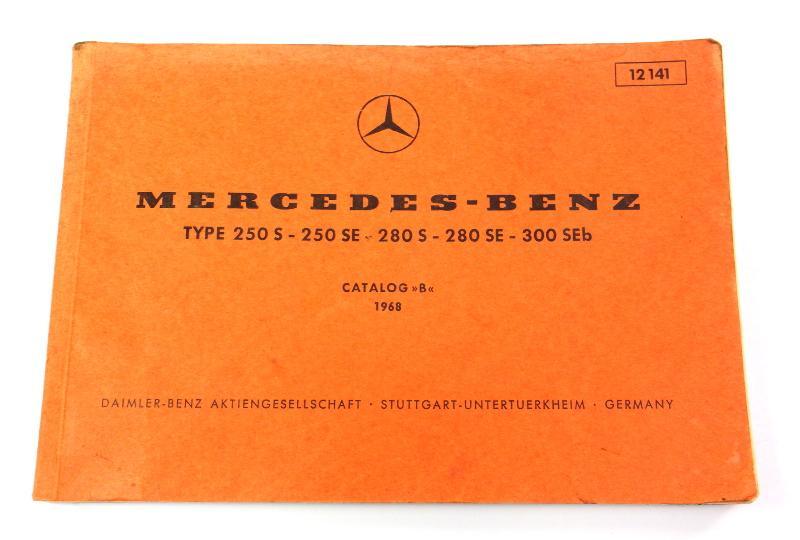1968 Mercedes 250 S 250 SE 280 S 280 SE 300 SEb Parts