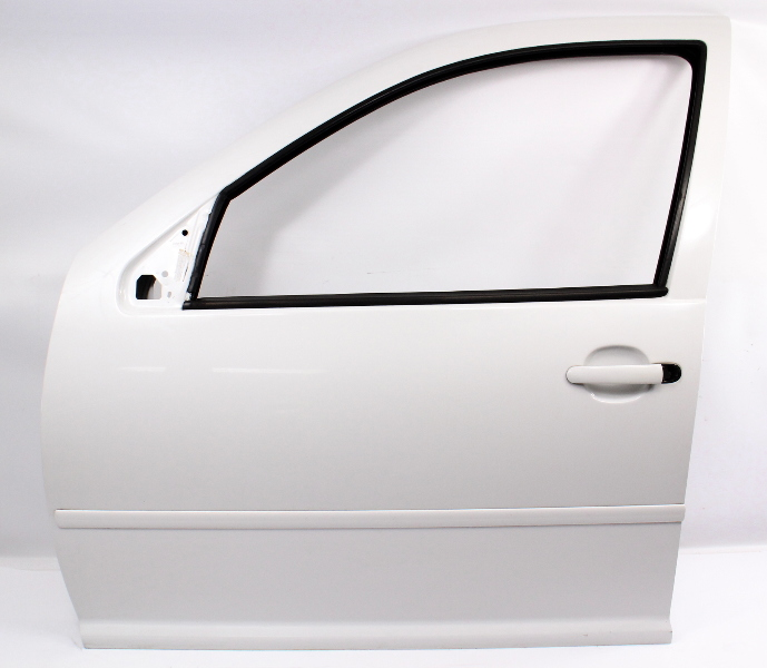 LH Front Driver Exterior Door Shell 99-05 VW Jetta Golf MK4 LB9A Candy White