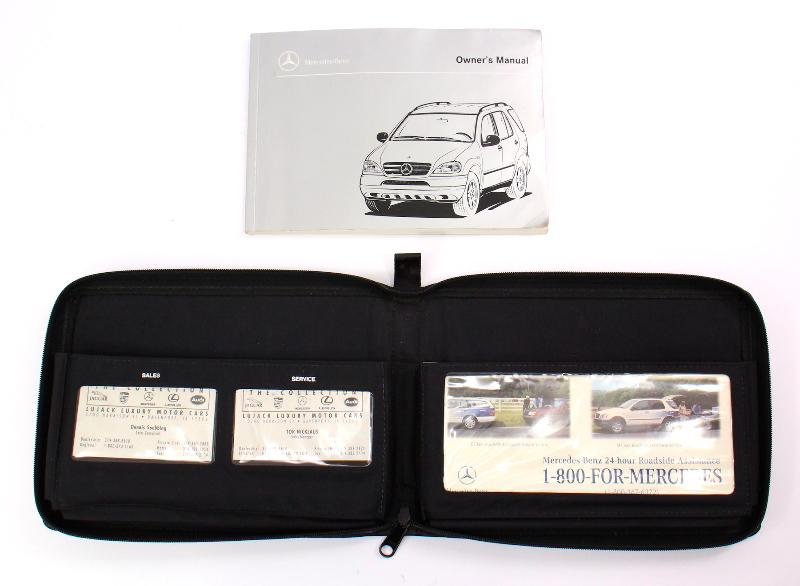 Owners Manual Books 1998 Mercedes Benz ML320 W163