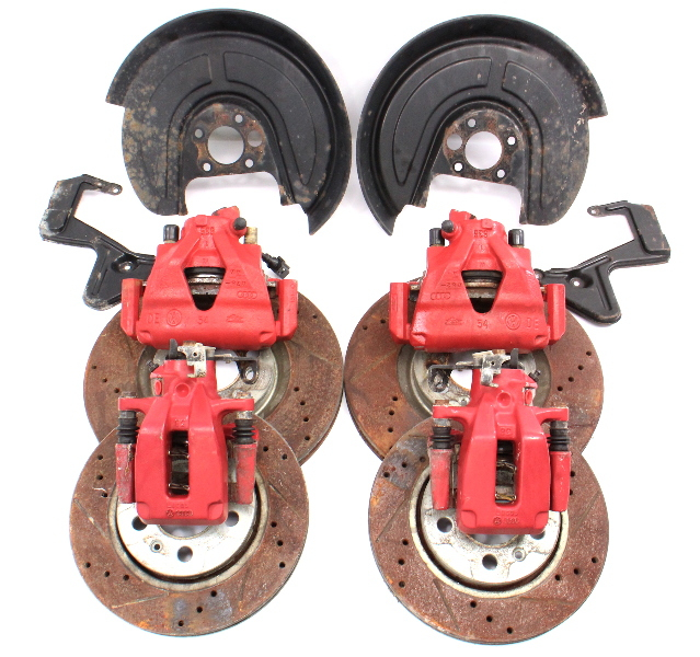 20th AE Red Big Brake Upgrade Kit 99-05 VW Jetta Golf GTI MK4 Beetle 312mm 256mm