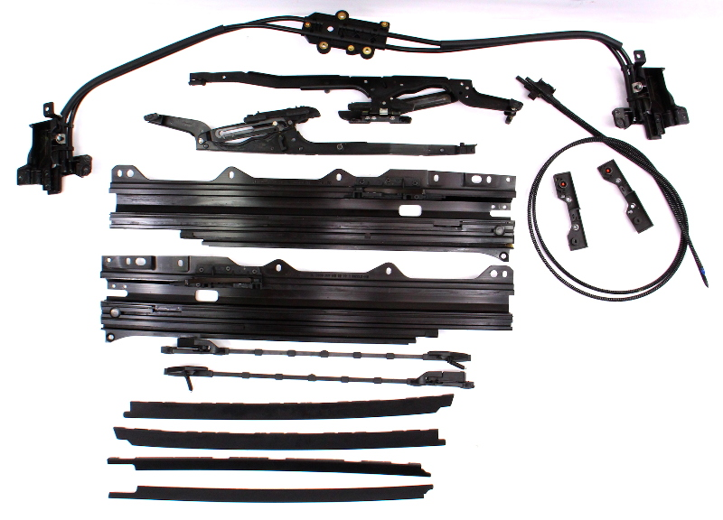 Panoramic Sunroof Moonroof Track Frame Cables Repair 06