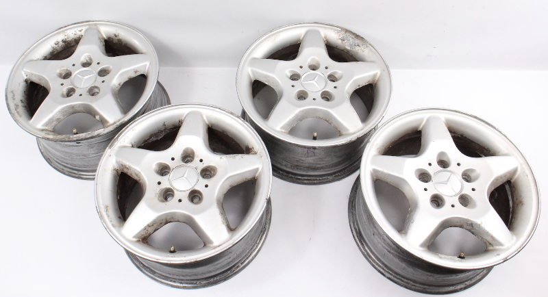 "16"" Five Spoke Stock Alloy Wheel Set Rims 98-01 Mercedes ML320 ML430 1634010202"