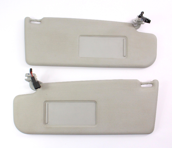 Sun Visor Set 05-10 VW Jetta Rabbit GTI MK5 Sportwagen Grey - Genuine