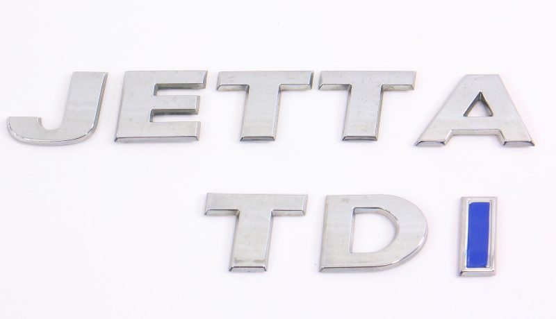 Rear Hatch Trunk Emblem Badges 09-14 VW Sportwagen 11-18 Jetta TDI MK6 - Genuine