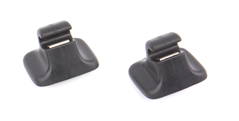 2x Black Sun Visor Clip Latch 05-18 VW Jetta Rabbit GTI MK5 MK6 - Genuine