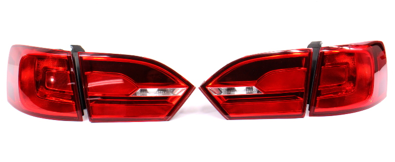 Smoked Tail Light Lamp Set 11-14 VW Jetta GLI Mk6 Sedan - Genuine