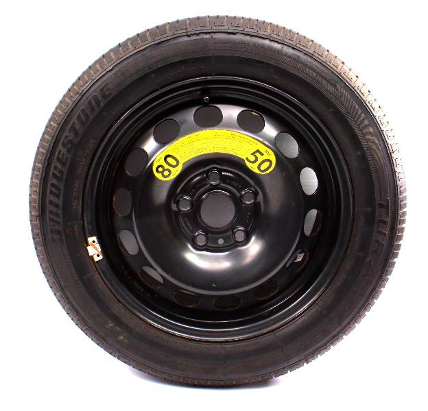 """Full Size Spare 16"""" Steel Wheel Tire 05-18 VW Golf Jetta Mk5 MK6 1K0 601 027 AK"""