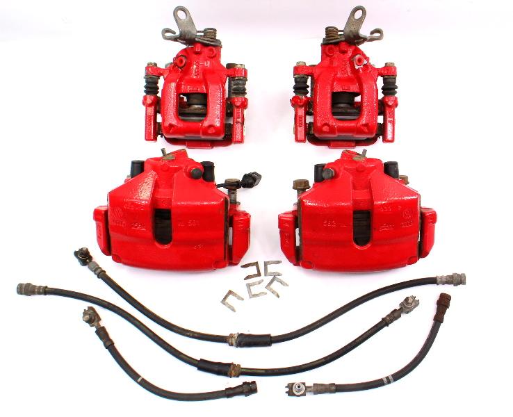 Big Brake Upgrade Red GLI Set 11-18 VW Jetta MK6 - Genuine - 312mm / 272mm