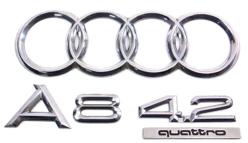 Trunk Emblems Badges 00-03 Audi A8 4 2 Quattro D2