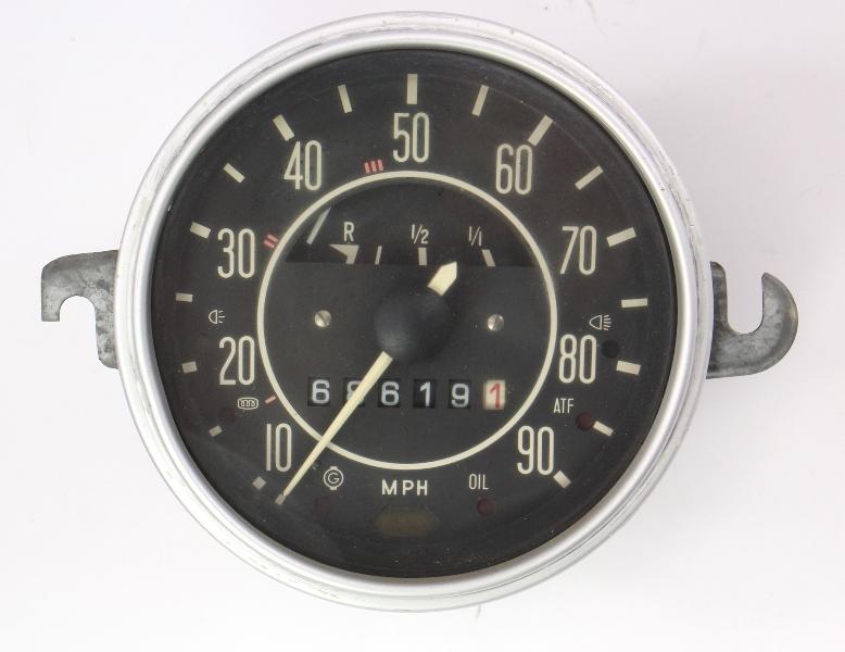 1971 Vw Beetle Bug Speedometer Gauge Cluster Vintage