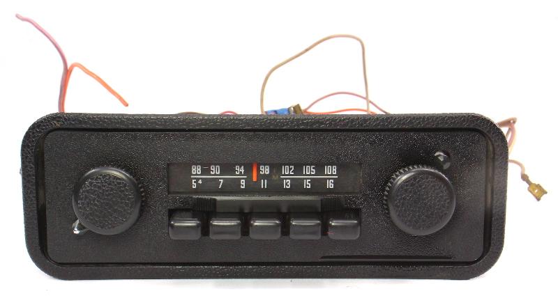 Stock Am Fm Radio Head Unit 1971 Vw Beetle Bug Vintage