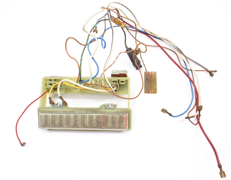 Fuse Box W/ Wiring 1971 VW Super Beetle Bug Convertible Aircooled 111 937 505 G
