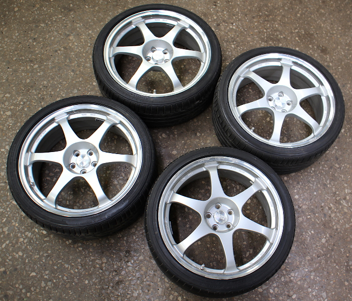 "19"" SSR Wheel Tire Rim Set 5x100 VW Jetta Golf GTI R32 MK4 Type CH Speed Star"