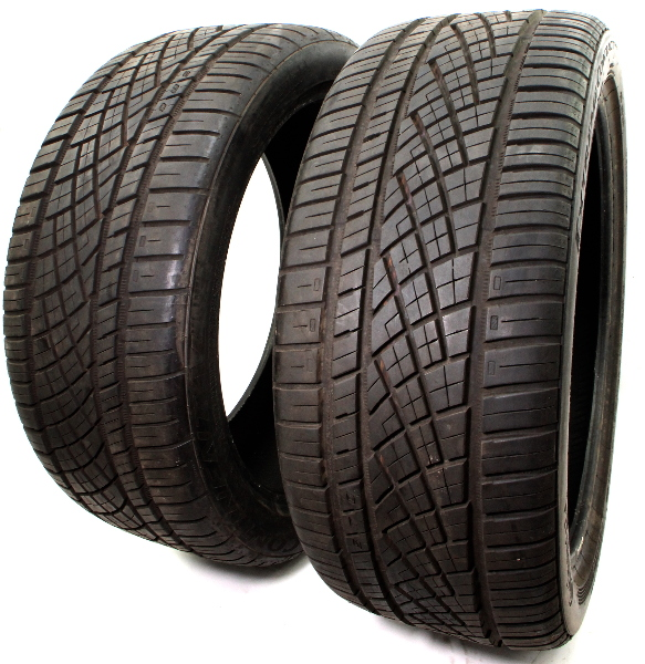 2X Continental Extreme Contact DWS 06 245/40ZR19 98Y Used Tires 10/32nd