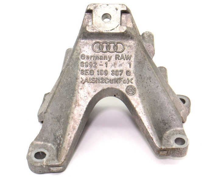 LH Engine Mount Bracket 05-09 Audi A4 3.2 BKH V6 - Genuine - 8E0 199 307 Q