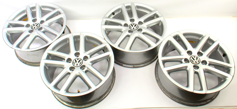 "17"" 5x112 Alloy Wheel Rim Set 05-18 VW Jetta Rabbit Golf MK5 MK6 - 3C0 601 025 R"