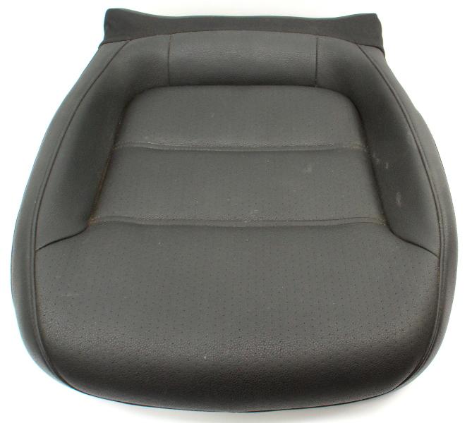 RH Front Lower Seat Cushion 11-18 VW Jetta MK6 Sedan - Black Leatherette