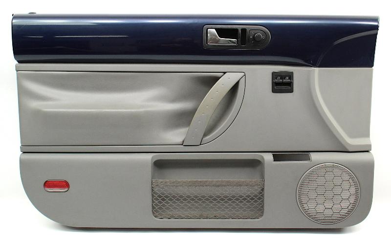 LH Front Interior Door Panel 98-05VW Beetle Trim Blue / Grey - 1C1 867 009 K