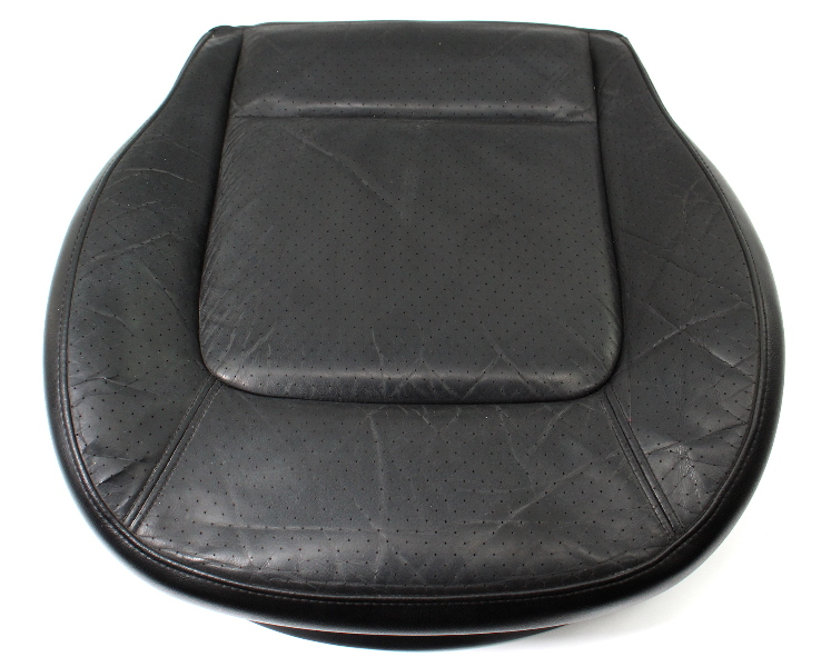Front Seat Cushion & Foam 98-05 VW Beetle Black Leather Cover Heated - Genuine