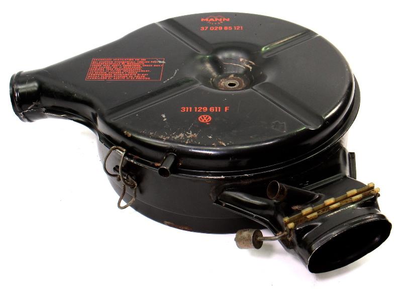 Oil Bath Air Cleaner Intake 1970 VW Type 3 Aircooled FI - 311 129 611 F