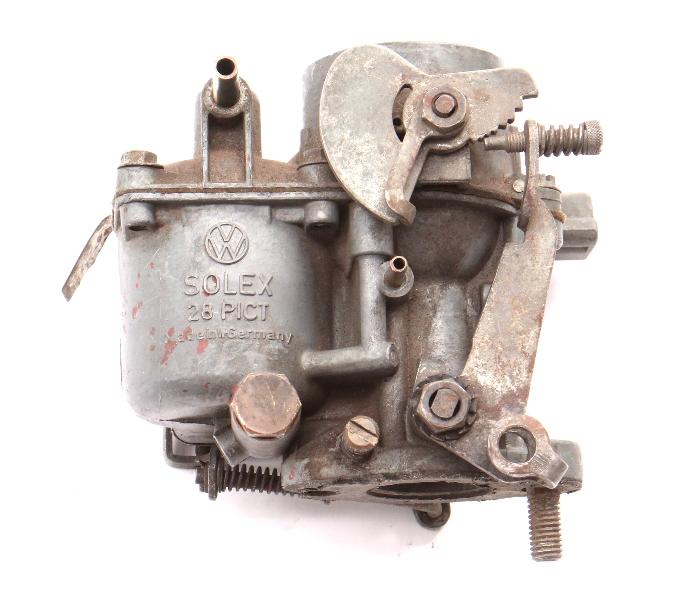 Solex Carburetor 28PICT 61-63 VW Beetle Bug 1200cc 40HP - Genuine 113 129 023 D