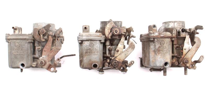 Solex Carburetor Carb Parts Lot 30 PICT-2 68-69 VW Beetle Bus - 112 129 027 H