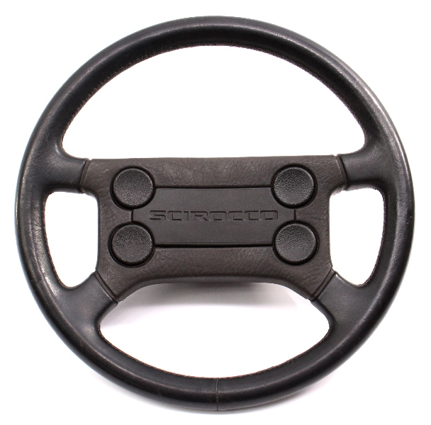 4 Button Leather Steering Wheel VW Scirocco Mk1 MK2 - 191 419 091 C