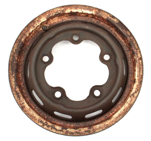 """4 x 15"""" Steel Wheel Rim 66-67 VW Beetle Bug Aircooled Wide Five 5 x 205 Genuine"""