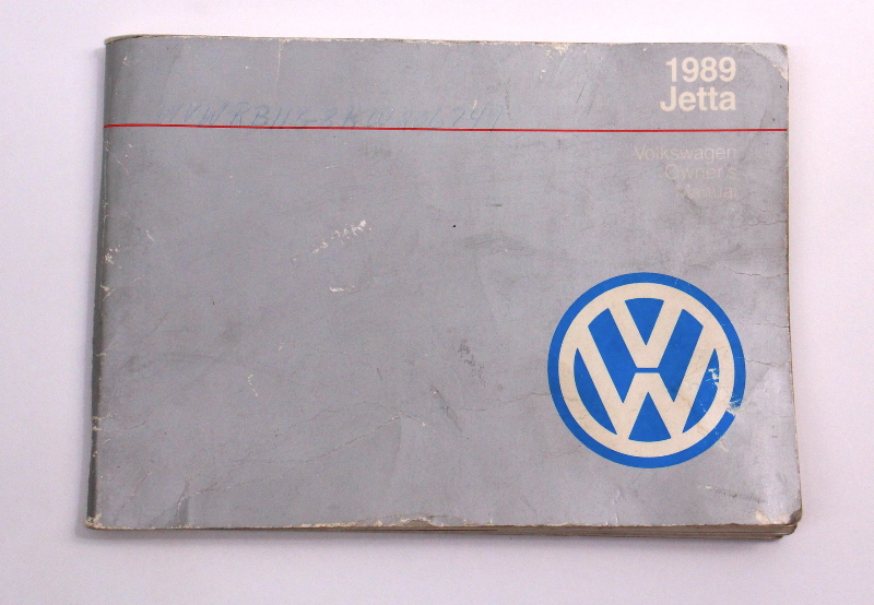 1989 VW Jetta Owners Manual Book MK2 - Genuine