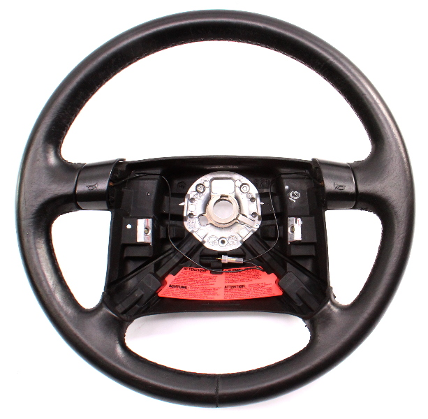 Leather Steering Wheel 94-96 VW Jetta Golf GTI MK3 4 Spoke Stock - 1HM 419 091 K