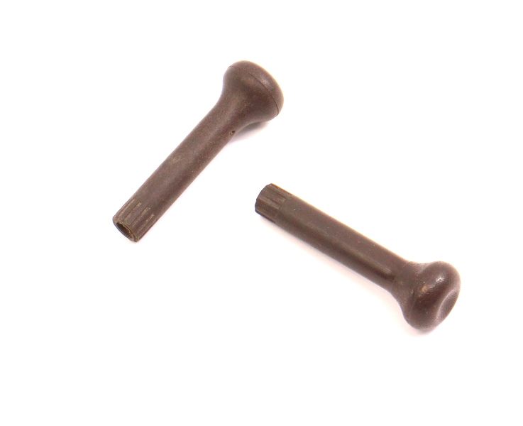 Pair Of Door Lock Pin Pull Knob Set VW Jetta Rabbit GTI MK1 MK2 Brown - Genuine